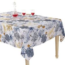 inch white 100 polyester banquet wedding party picnic rectangular yemyhom modern printed spill proof cloth rectangle tablecloth 60 x 84 blue tree