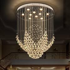 Hanging Flower Lights Bedroom 2018   K9 Crystal Chandeliers LED Modern  Chandelier Lights Fixture Flower Home