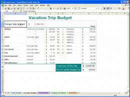 Trip Planner Excel Vacation Trip Planner Vacation Trip Planner Template