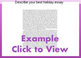 Describe Your Essay Describe Your Best Holiday Essay College Paper Writing Service