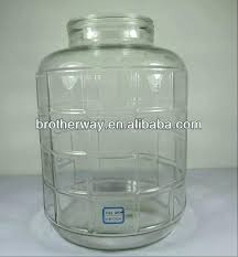 5 gallon glass jar gallons honey with handle and plastic lid water bottle canada 5 gallon glass jar