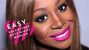 easy valentines date night makeup tutorial for black women v day makeup on dark skin look 2 lets learn makeup