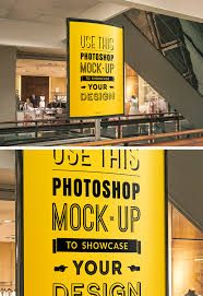 Mockup Poster Indoor Advertising Poster Mockup Graphicburger