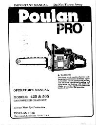 Poulan Spark Plug Chart Poulan 425 Chainsaw User Manual Manualzz Com