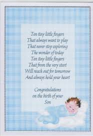 Congratulations On Your Baby Boy A4 Congratulations On The Birth Of Your Baby Boy Insert