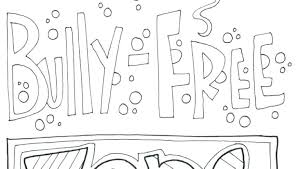 Anti Bullying Coloring Pages Free Medium Size Of Bullying Coloring