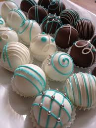 Decorating Cake Balls Tiffany' s themed bridal shower cake balls Or use this decoration 16