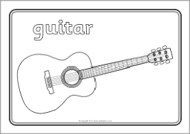 Small Picture Musical instruments colouring sheets SB8937 SparkleBox