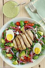 make your own panera bread green dess cobb salad at home with this easy copycat recipe