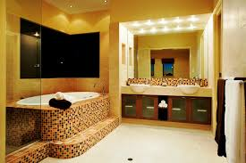 Bathroom:Relaxing Spa Bathroom Design With Wooden Bench Seating And Cream  Tile Wall Ideas Charming