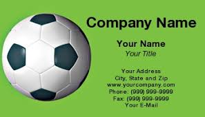 Soccer Business Card Soccer Business Cards