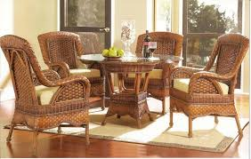 furniture delightful wicker black rattan dining chair with long
