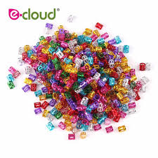 <b>100pcs</b>/lot <b>Wholesale</b> Dreadlock Beads Red Gold Silver <b>Mixed</b> ...