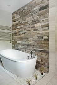 Naturstein Wandverkleidung Im Modernen Badezimmer Bathroom In 2019
