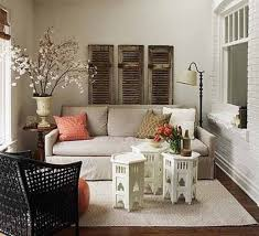 Moroccan Style Living Room Design Living Room With Old Shutters And Moroccan Style Coffee Tables