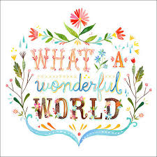 canvas wall art what a wonderful world by katie daisy