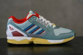 torsion zx flux. new adidas zx flux 9000 wave og hydra sneakers lateral view torsion zx