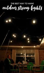 outdoor strand lighting. Full Size Of Outdoor Lighting How To Hang Patio Lights The Easy Way Awesome Photo Ideas Strand .