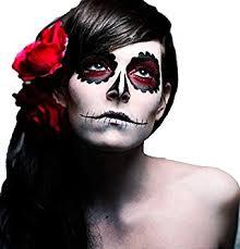 garden ghost makeup set set includes 1x white face paint 1x face paint sponge 1x black