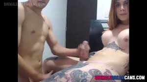 Shemale gets hand job