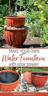 solar plant pot water fountain in under