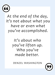 Quotes About Giving Back Impressive Sydne Style Shares The Best Quotes About Giving From Denzel