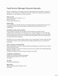 Food Service Manager Resume New Sample Resume For Food Service Best How To Write A Food Service