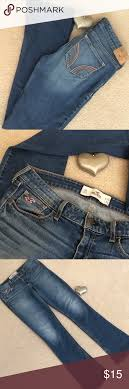 Hollister Jeans Kick Leg Dark Blue Good Condition Label