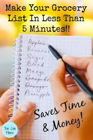 How To Make A Grocery List Make Your Grocery List In Less Than 5 Minutes