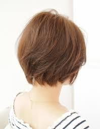 大人可愛い前髪長めトップふんわりショートsyー4 ヘアカタログ