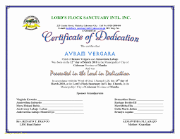 Baby Dedication Certificates T