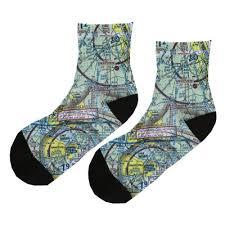 Sky Zone Sock Size Chart Custom U S Aeronautical Chart Socks