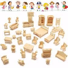 mini furniture. 34 Pcs DIY Mini Wooden Furniture N
