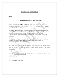Teaching Experience Certificate Format Doc Lawteched Letter