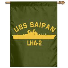 com navy uss saipan lha 2 military garden flags set for outdoors evergreen classic house flag sports outdoors