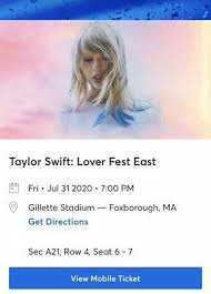 2 Floor Tickets Taylor Swift Section F Row 15 8 14 18