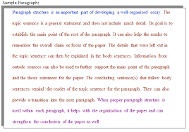 how do i improve my paragraph structure and unity college of  picture of a sample paragraph