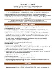 Resume Templates For No Work Experience New Production Assistant Resume Sample Monster