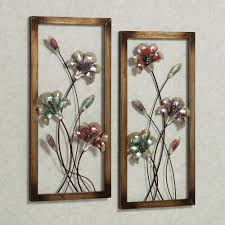 touch to zoom on decorative metal wall art panels with garden whispers floral metal wall art panel set