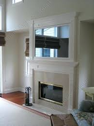 over fireplace television mirror from stimuli sight sound hide tv hiding niche above