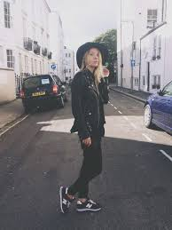 new balance girls. new balance burgundy trainers girl outfit leather jacket floppy hat wool black skinny trousers girls