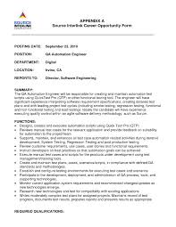 Collection Of Solutions Resume Cv Cover Letter Software Testing