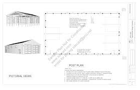 pole barn blueprints for material list calculator plans free garage ideas framing instructions with
