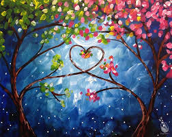 how to paint love trees at night single s only