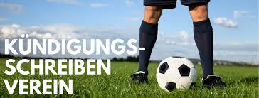 Zum fußball können kinder ab drei jahr gehen. Kundigungsschreiben Verein Einfach Ausfullen Und Abschicken