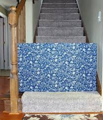 fabric baby gate bottom of stairs custom canada pattern