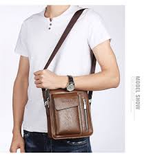<b>WEIXIER</b> Solid Color Retro Style Men's PU Soft Material Classic ...