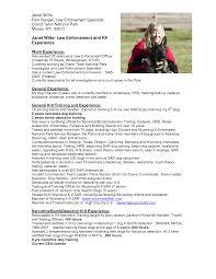 Park Ranger Resume Resume For Study