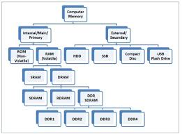 Types Of Memory Chart Computer Memory Types Ram And Dram Memory Module