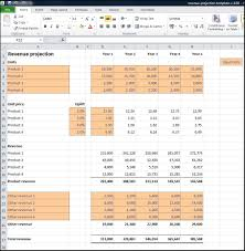 Revenue Projections Calculator Plan Projections